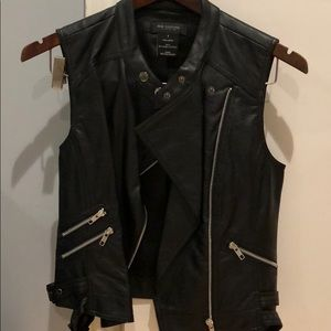 NEVER WORN MM Couture leather vest